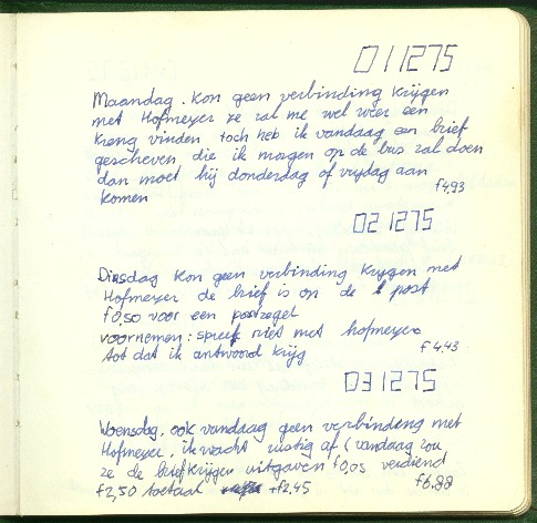 journal diary example